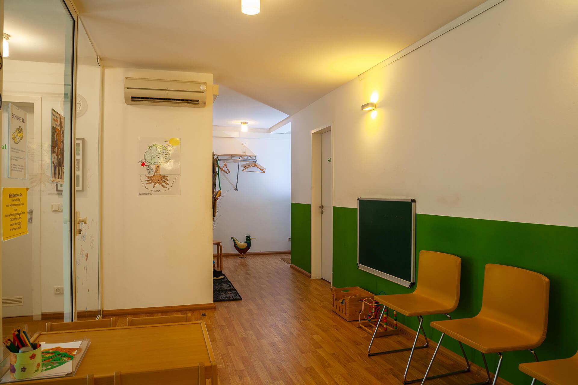 Wartezimmer und Eingangsbereich | Praxis für Logopädie Elisabeth Warnke